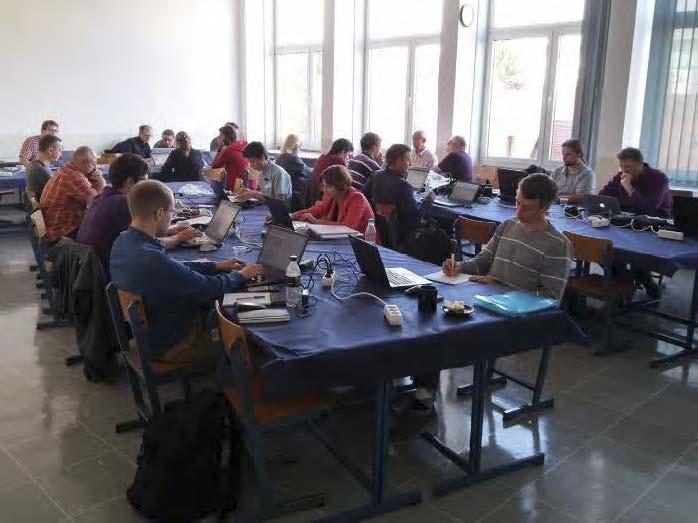 Del skupine EU-IM v kampu kodiranja na Fakulteti za strojništvo